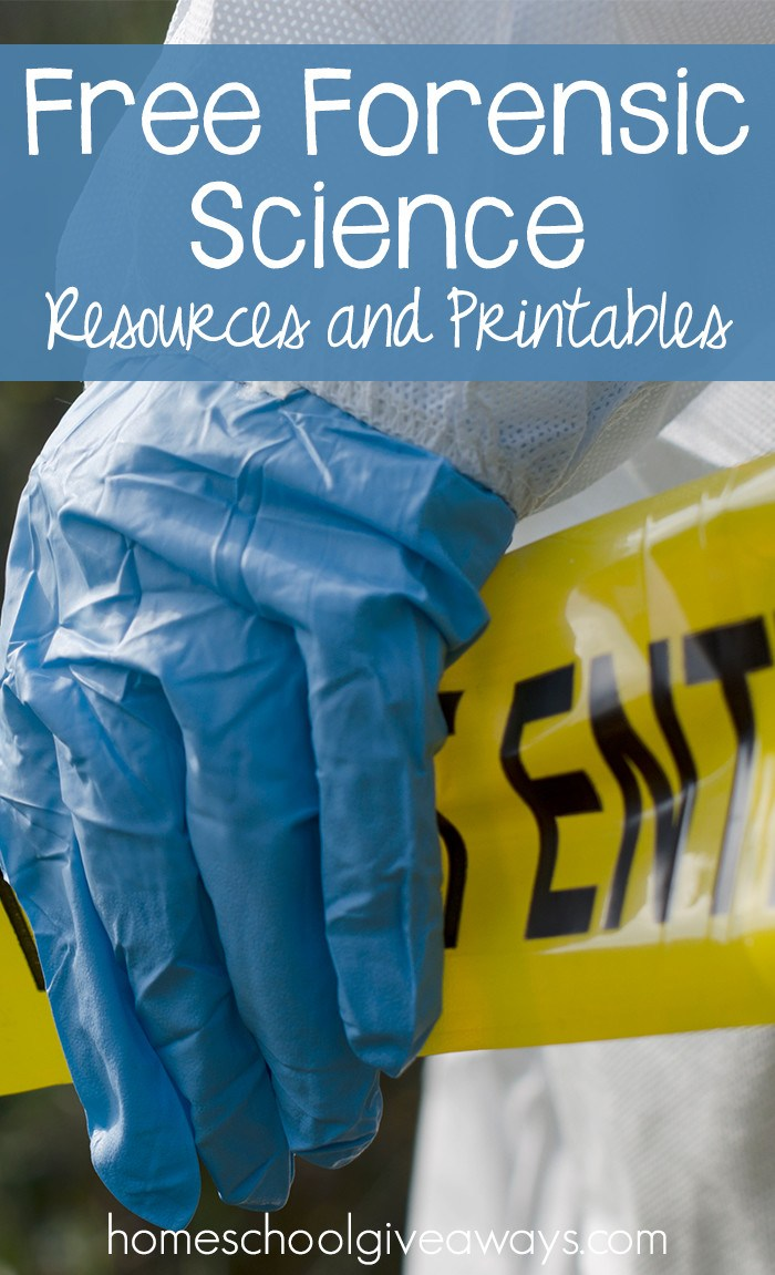 Free Forensic Science Printables & Activities