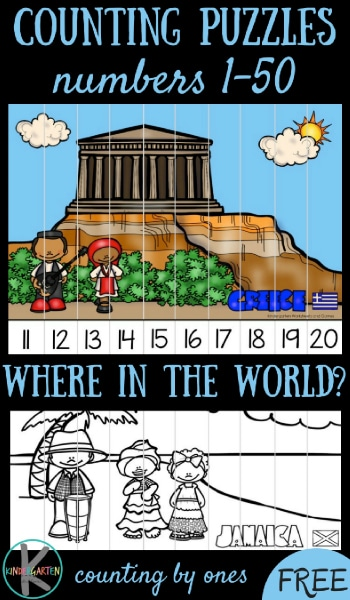 Free Around the World Counting Puzzles