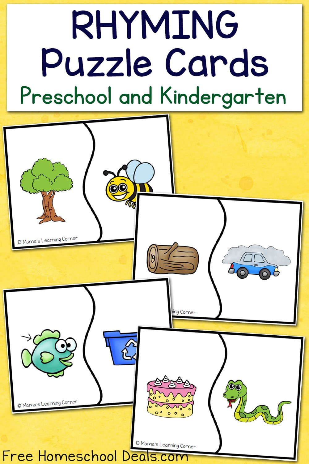 FREE RHYMING PUZZLE CARDS (Instant Download)