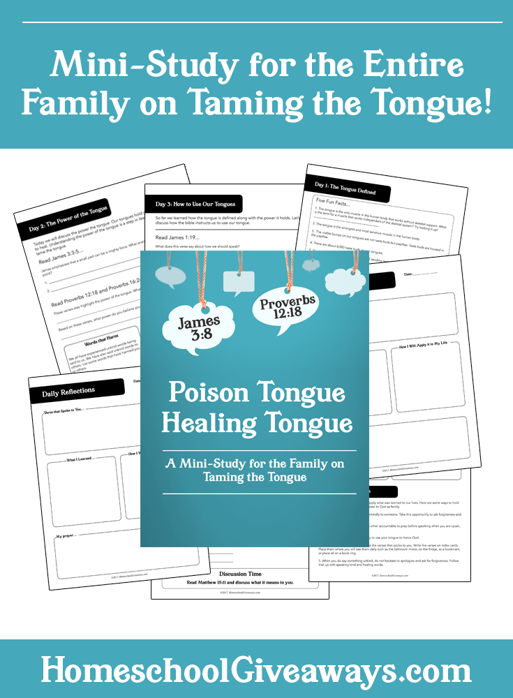 Free Taming the Tongue Family Bible Study