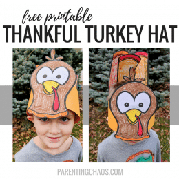 Free Printable Thankful Turkey Hats
