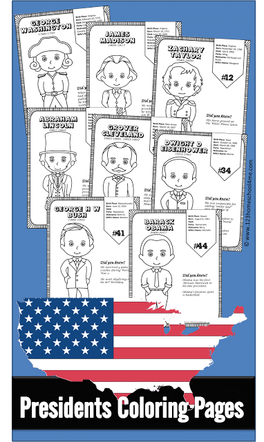 Free U.S. Presidents Coloring Pages
