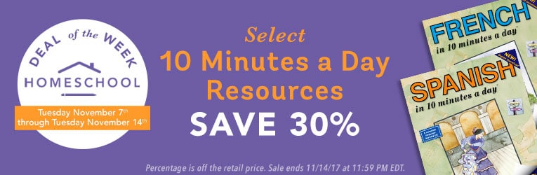 30% Off 10 Minutes a Day Resources