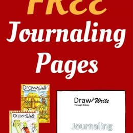 Free Draw and Write Through History Journaling Pages