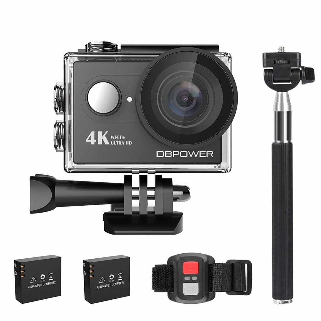DBPower Waterproof Action Camera w/ Accessories Kit Only $39.99!