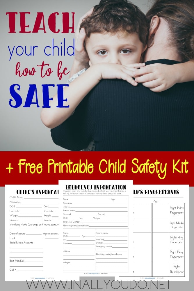 Free Child Safety Kit Printables
