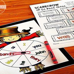 Free Scarecrow Pronoun Game