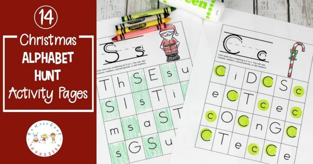 Free Christmas Alphabet Hunt Printables