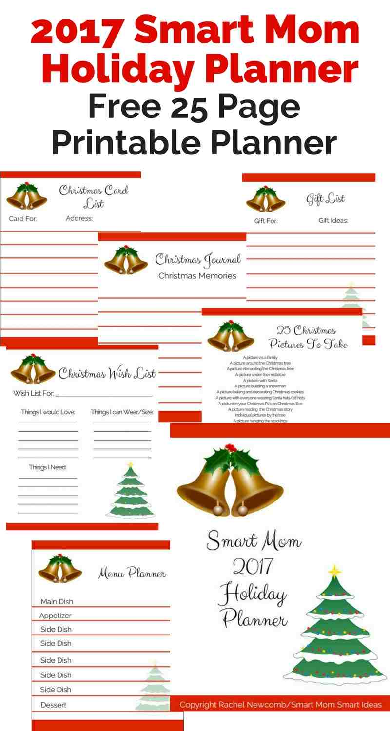 Free 2017 Smart Mom Holiday Planner