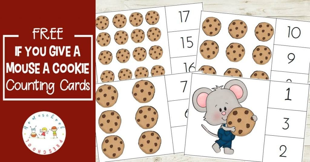 Free If You Give a Mouse a Cookie Count & Clip Cards