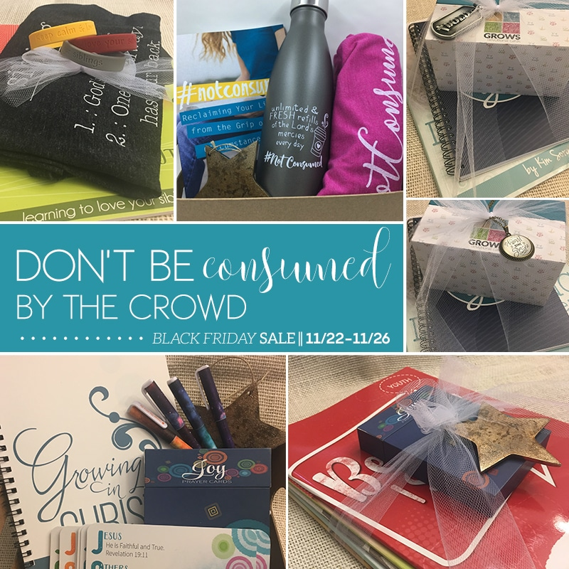 Not Consumed Black Friday Sale - Bible Studies, Notebooks, & Lots More!