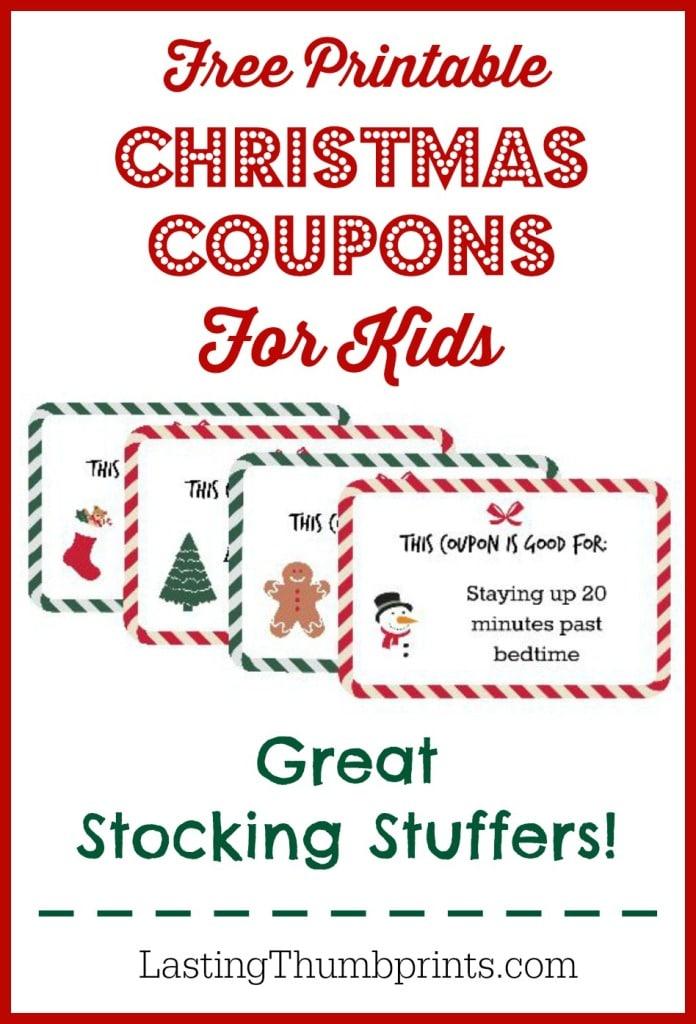 Free Printable Christmas Coupons for Kids