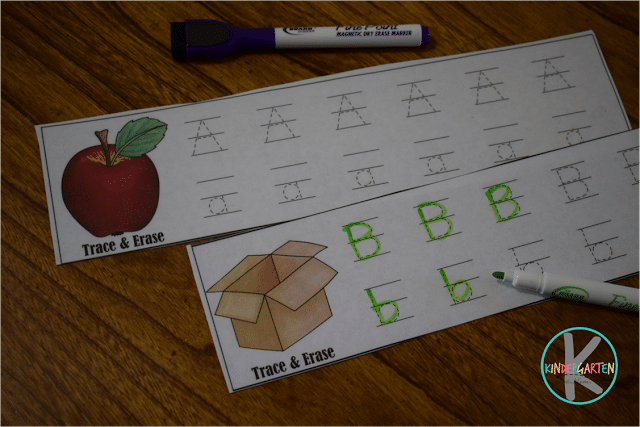 Free Trace & Erase Handwriting Cards