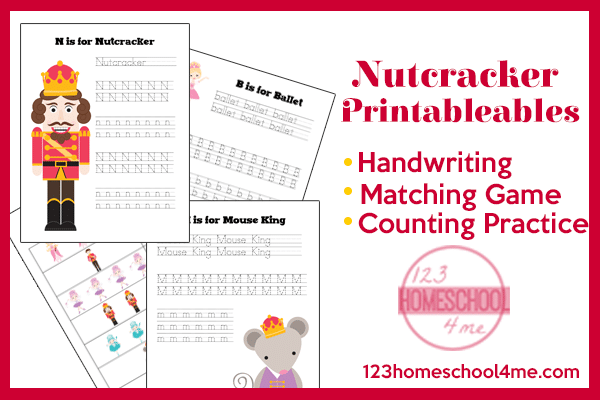 Free Nutcracker Early Learning Printables
