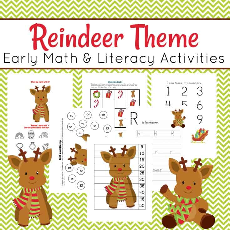 Free Reindeer Preschool Printable Pack