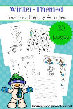 FREE Winter-Themed Preschool Literacy Activities