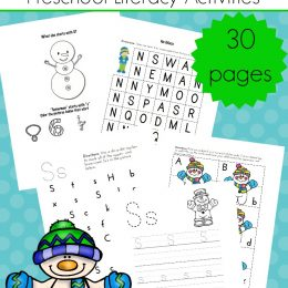 FREE Winter-Themed Preschool Literacy Activities