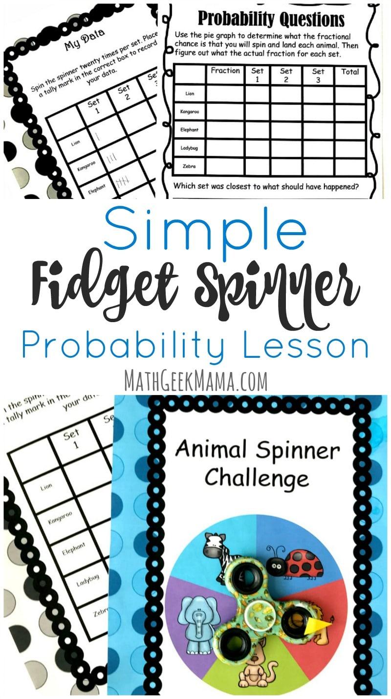 Free Fidget Spinner Math Challenge