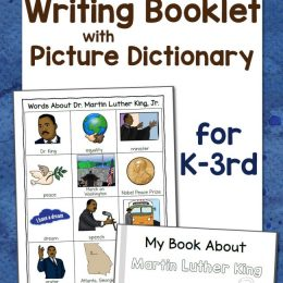 Free Martin Luther King Jr. Writing Booklet w/ Picture Dictionary