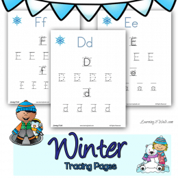 FREE Winter Letter Tracing Pages