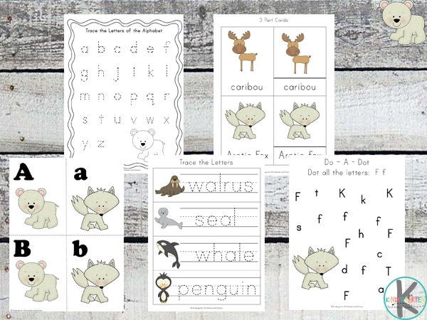 Free Arctic Animal Printable Pack (60 Pages!)