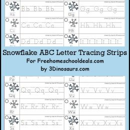 FREE Snowflake ABC Letter Tracing Strips (Instant Download)