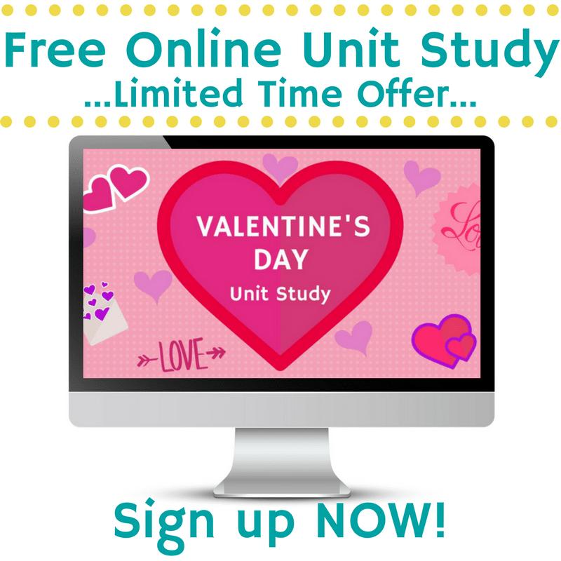 Free Valentine's Day Online Unit Study
