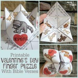 FREE Valentine's Day Scripture Cootie Catcher