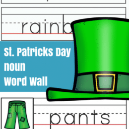 Free St. Patrick's Day Noun Word Wall Printables
