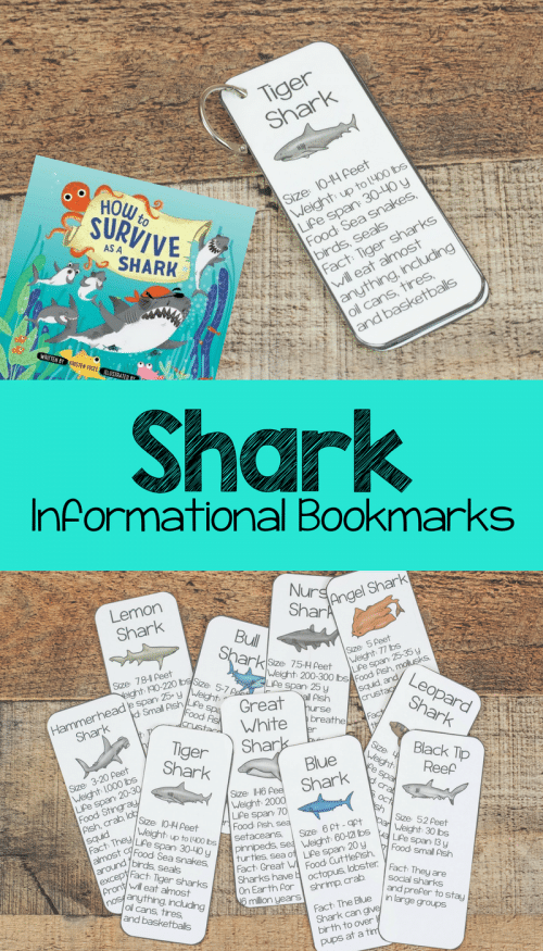 Free Shark Facts Bookmarks