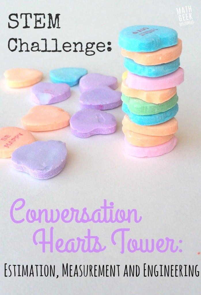 Build a Conversation Heart Tower STEM Activity