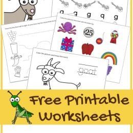 FREE LETTER G PRESCHOOL WORKSHEETS (Instant Download)