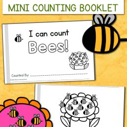 FREE I Can Count Bees Mini-Book