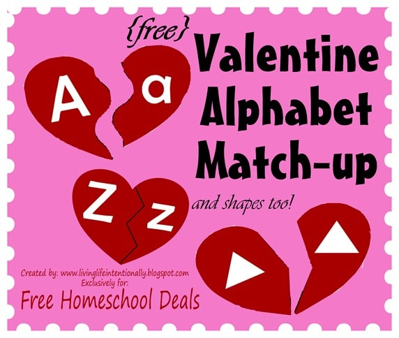 Valentine Alphabet Match Game
