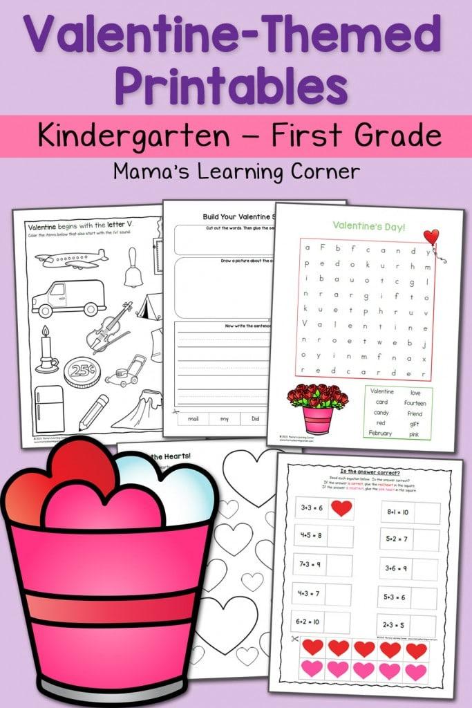 Valentine Worksheets Kindergarten First Grade