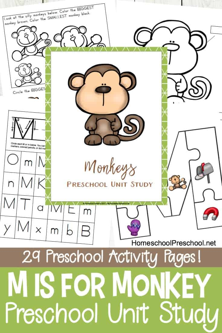 Free Monkey Preschool Printables