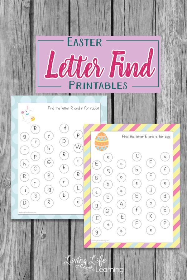 Free Easter Letter Find Worksheets