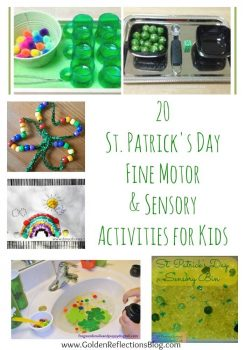 20 St. Patrick's Day Fine Motor & Sensory Activities for Kids