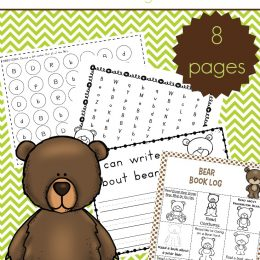 FREE B IS FOR BEAR PRINTABLE PACK (Instant Download)