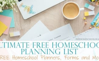 Planning your homeschool is half the battle. And it always helps to have a wonderful planning list, forms and everything ready at your fingertips. But you don't have to spend a ton of money! In fact, you can find amazing FREE options! #freehomeschooldeals #homeschooling #homeschoolers #homeschoolplanner