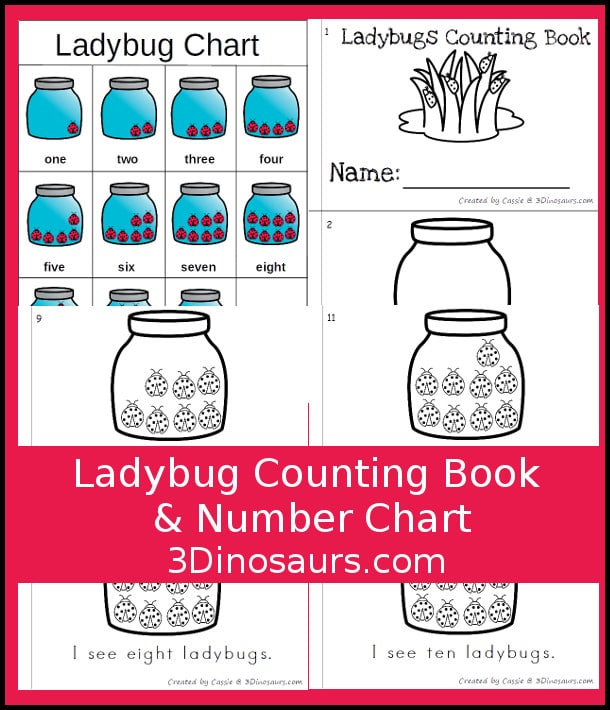 Free Ladybug Counting Book & Number Chart
