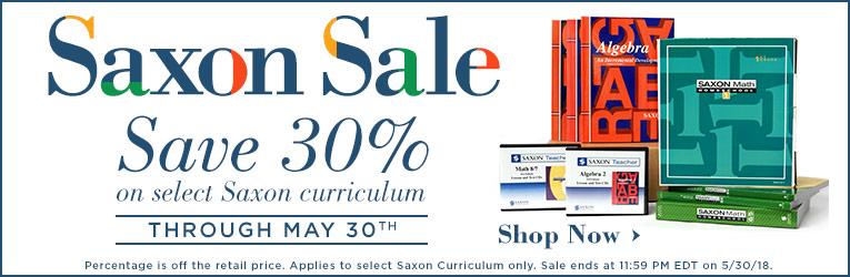 30% Off Saxon Math Curriculum