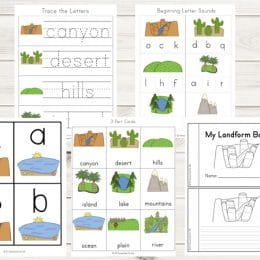 Free Landforms Printable Pack (76 Pages!)