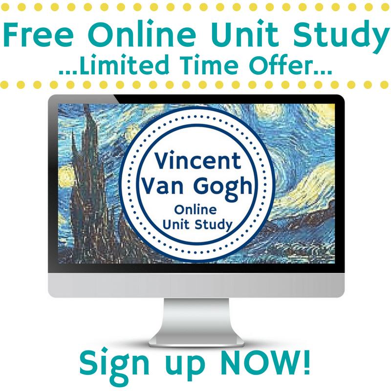 FREE Vincent Van Gogh Online Unit Study