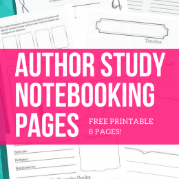 Free Author Study Notebooking Pages