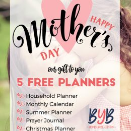 Special Mother's Day Freebie Pack - 5 Planners!