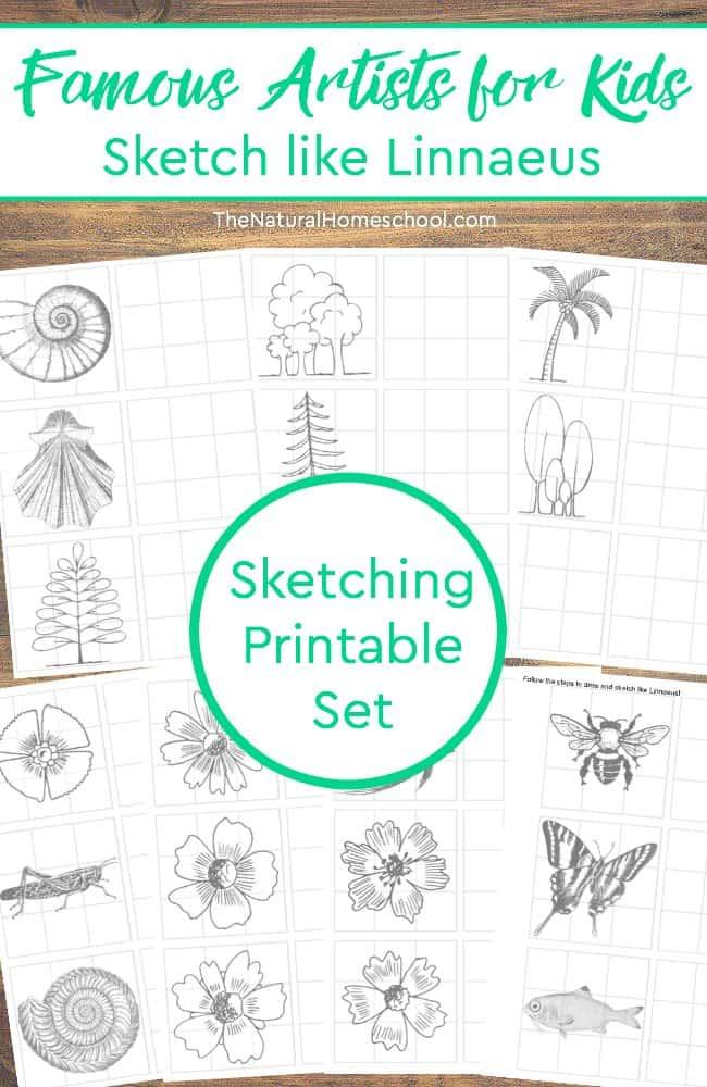 Free Sketching Printable Set