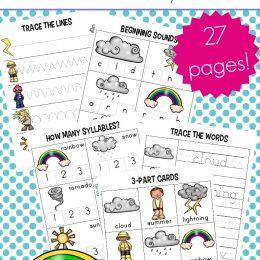 Free Preschool Weather Worksheets