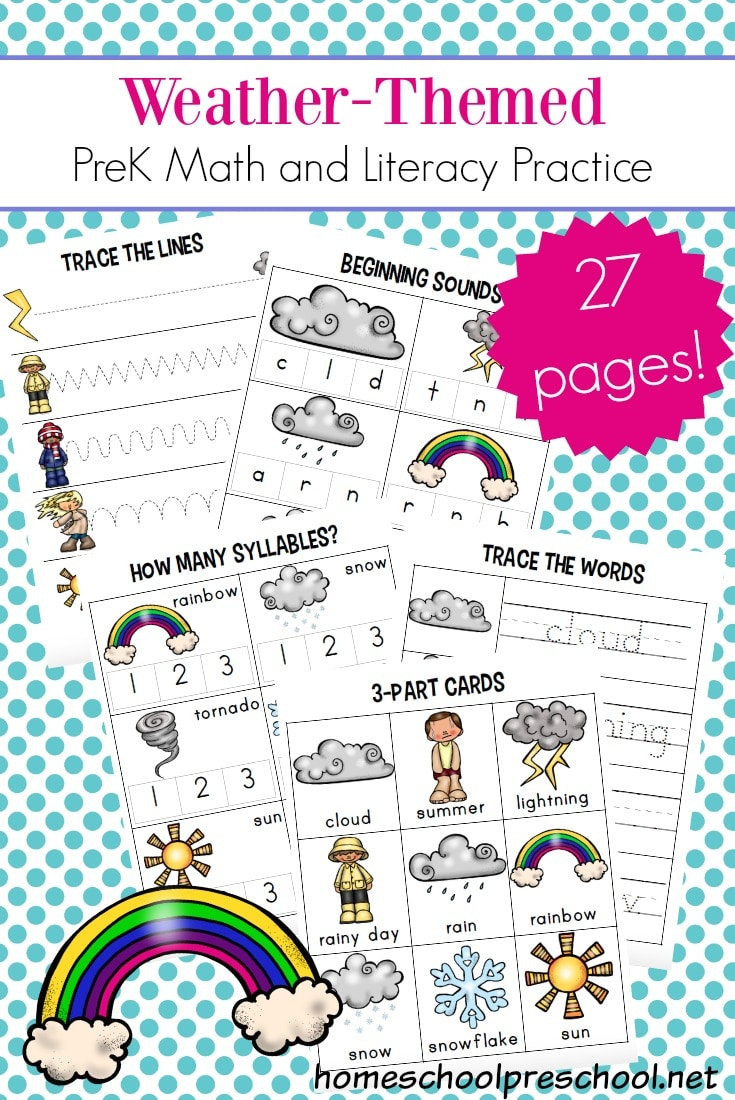 Free Preschool Weather Worksheets