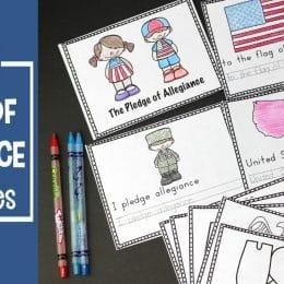 Free Pledge of Allegiance Worksheets